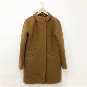 J. Crew | Stadium Cloth Wool Camel Cocoon Coat